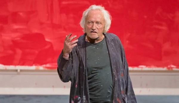 Niels Arestrup, un comédien inspiré pour incarner le peintre tourmenté  dans Rouge actuellement au Théâtre Montparnasse. @ DR