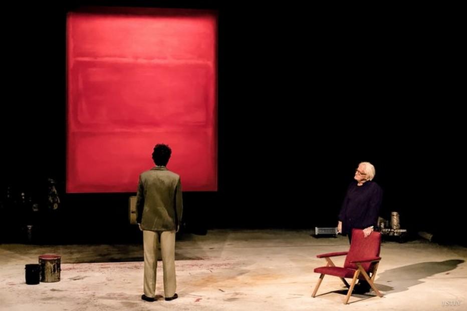 """Une pièce """" Rouge"""" de John Logan. Version française de Jean-Marie Besset. Mise en scène de Jérémie Lippmann. Avec Niels Arestrup et Alexis Moncorgé.@ DR"""