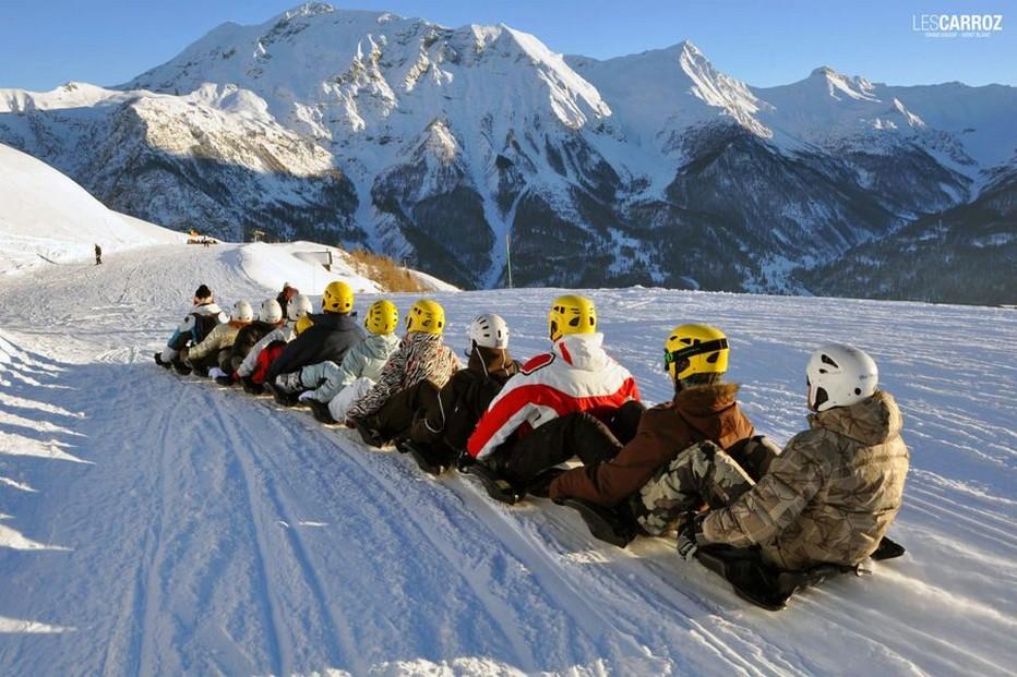 La compétition se veut conviviale aux Carroz durant la saison et lors du Trophée Mer Montagne. @ DR