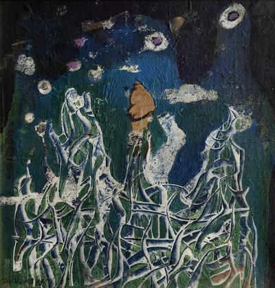 Oeuvre de Simon Hantaï @ Musée des Beaux Arts de Rouen