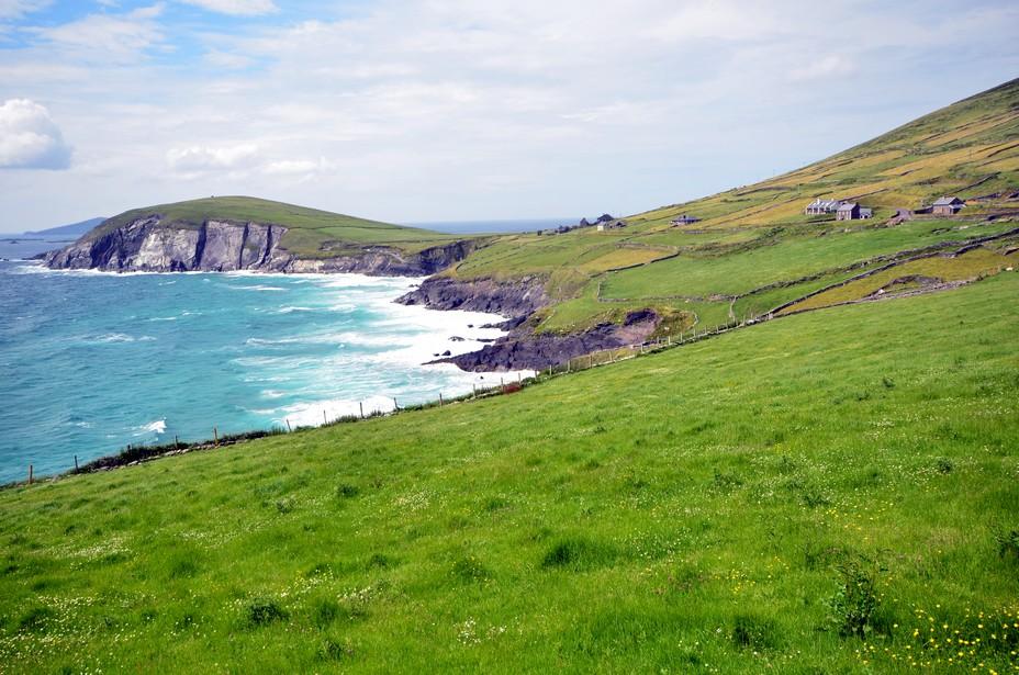 Les paysages verdoyants et maritimes de la presqu'île de Dingle. Crédit photo David Raynal
