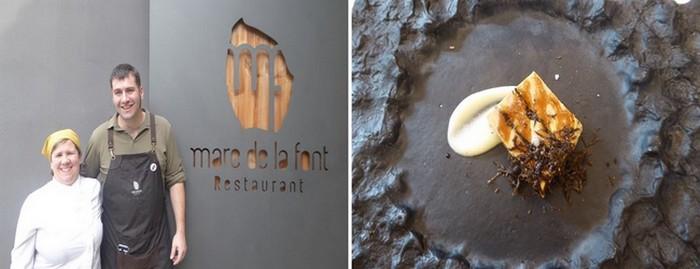 De gauche à droite : Restaurant Mare de la Font. Une histoire de famille.@ C.Gary ; Restaurant L'Arka. Foie gras à la truffe @ C.Gary