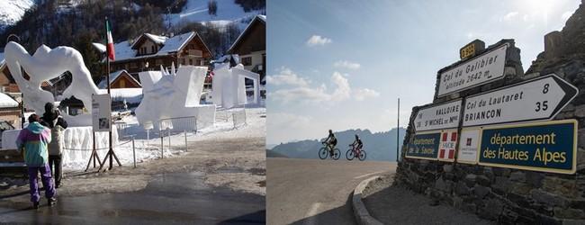 Valloire est très connue, chaque année en janvier, pour son concours de  sculptures sur glace et sur neige,  et reste une ville étape du Tour de France, en direction de la  mythique route du col du Galibier.  @ Wikipedia.org