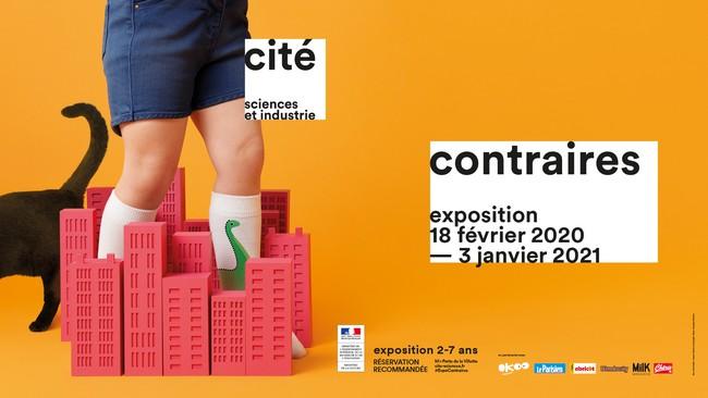 L'affiche de l'xposition Contraires à la Cité des Sciences et de l'Industrie à Paris. @ DR