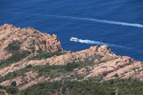 Au 6e  rang mondial des compagnies de ferries en capacité de couchages et au 9e rang en capacité de transport de passagers, Corsica Ferries est une entreprise de dimension européenne basée à Bastia. Ici, une vue de la réserve de Scandola. @ David Raynal
