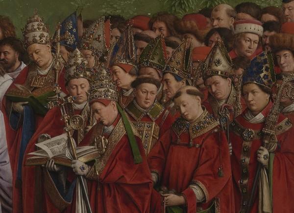 Détail de l'Agneau Mystique l'un des grands chef-d'oeuvre du peintre Jan Van Eyck. @ MSK