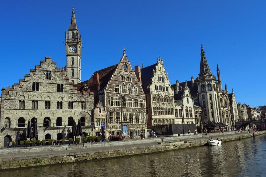 La très belle architecture du patrimoine architectural et culturel de la ville de Gand (Belgique) @wikipedia