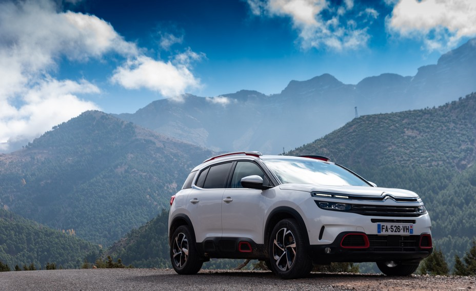 Citroën C5 Aircross,version essence 1.6 PureTech 180 East8 dans sa finition Shine (la plus luxe) .@ DR