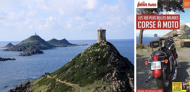 Iles Sanguinaries près d'Ajaccio. @ ATC-S.Alessandri  - Couverture Nouveau Petit Futé -  La Corse à moto @ DR