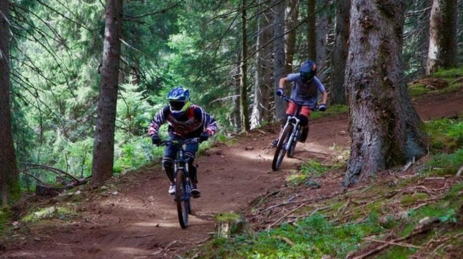 Bike Park des Carroz totalisent plus de 14 kilomètres de plaisir dédié au pilotage.  De quoi combler tous les styles de pratiquants, de la piste verte à pratiquer en famille jusqu'à la double noire des Championnats de France.@ DR