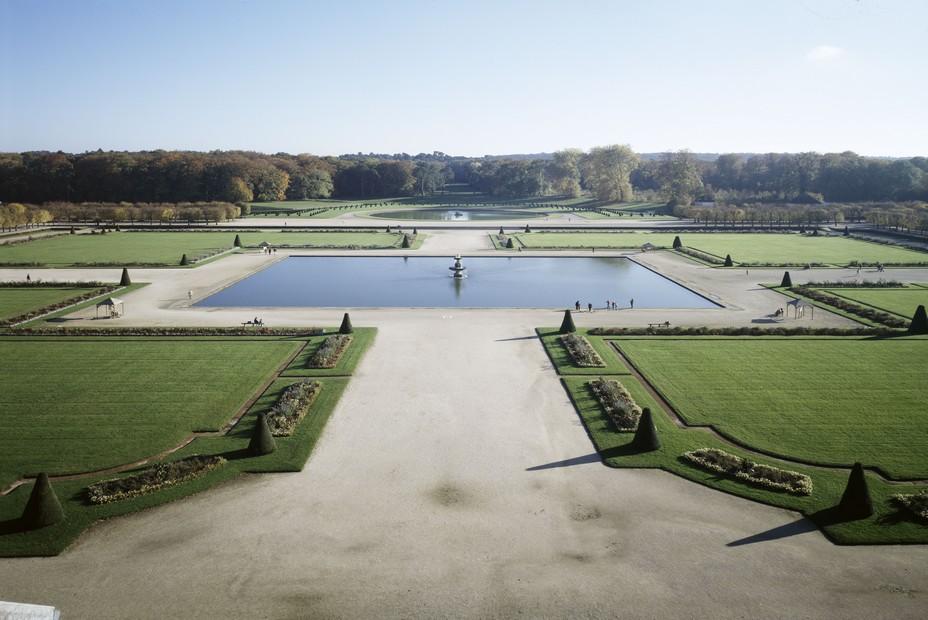 Le grand-parterre à Fontainebleau. Crédit photo D.R.