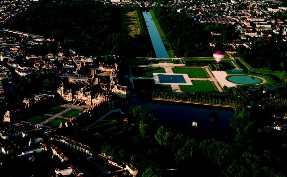 Survol du parc de Fontaniebleau en montgolfière. Crédit photo Béatrice Lecuyer-Bibal.