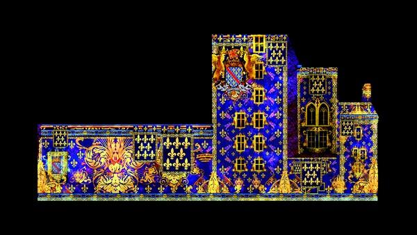 Les façades de la Mal-Coiffée à Moulins, le Château des ducs de Bourbon à Montluçon. @ David Raynal/D.R.