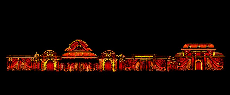 Les illuminations de l'Opéra à Vichy @ D.R.