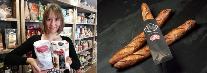La farine Label Rouge dite Bagatelle est le fer de lance de la société Foricher tandis que celle plus régionale comme la Fougerollaise est disponible notamment à l'épicerie Poulain au Val d'Ajol dans les Vosges. ©Farines Foricher-Bertrand Munier