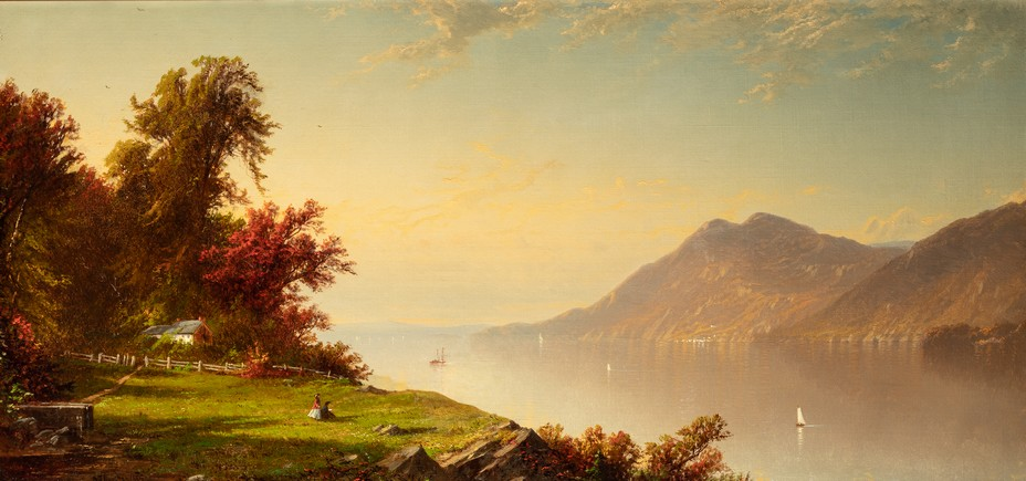 Alfred Thompson Bricher (1837-1908) Le Fleuve Hudson à West Point, 1864 Huile sur toile, 51,1 x 107,3 cm Chicago, Terra Foundation for American Art, Collection Daniel J. Terra, 1993.17 © Terra Foundation for American Art, Chicago.