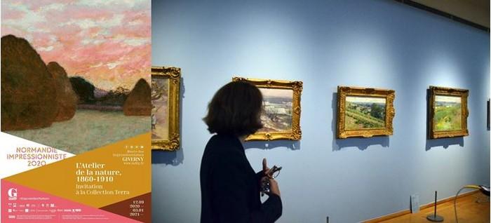 Affiche de l'exposition - Les impressionnistes Américains à Giverny jusqu'au 3 Janvier 2021. @ DR et  David Raynal