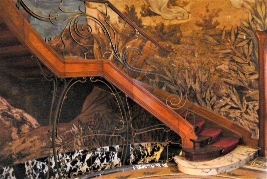 Hôtel Hannon à Bruxelles - Escalier. @ A.Degon