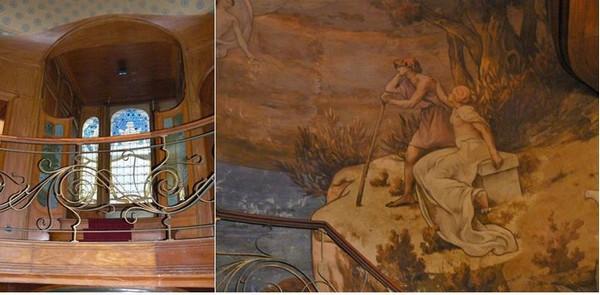 Décor  escalier Hôtel Hannon à Bruxelles @ A.Degon