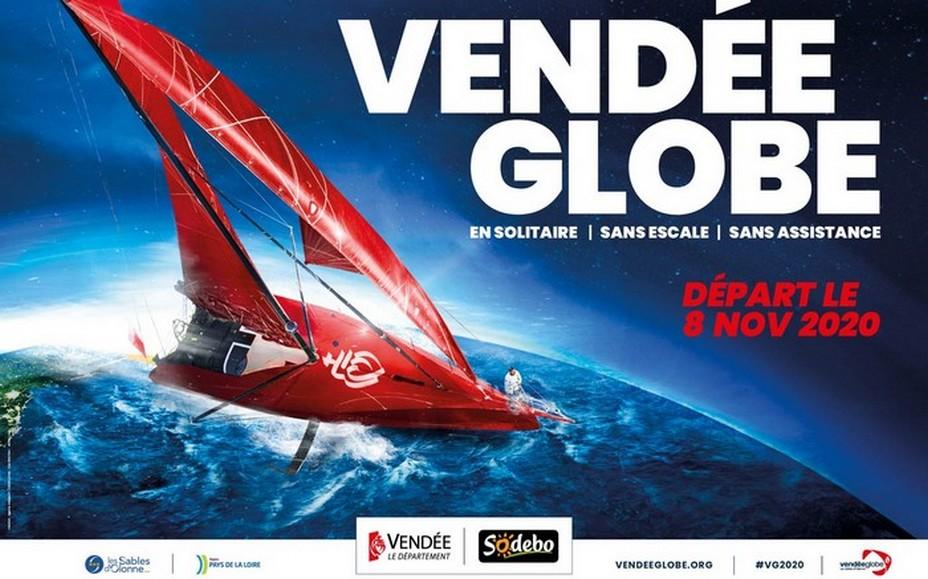Affiche du Vendée Globe, départ 8 novembre 2020. @ VG