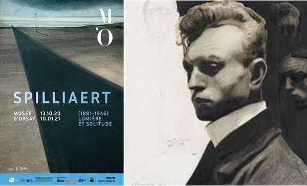 Affiche de l'exposition et autoportrait de Spilliaert. @ DR