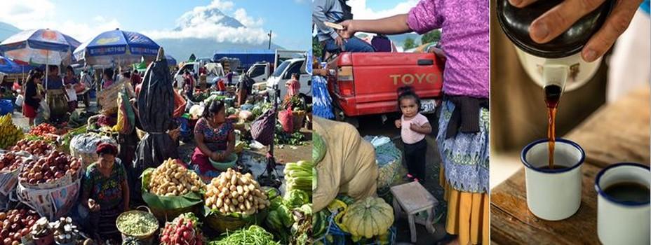 Scènes de marché dans la ville d'Antigua Guatemala @ David Raynal