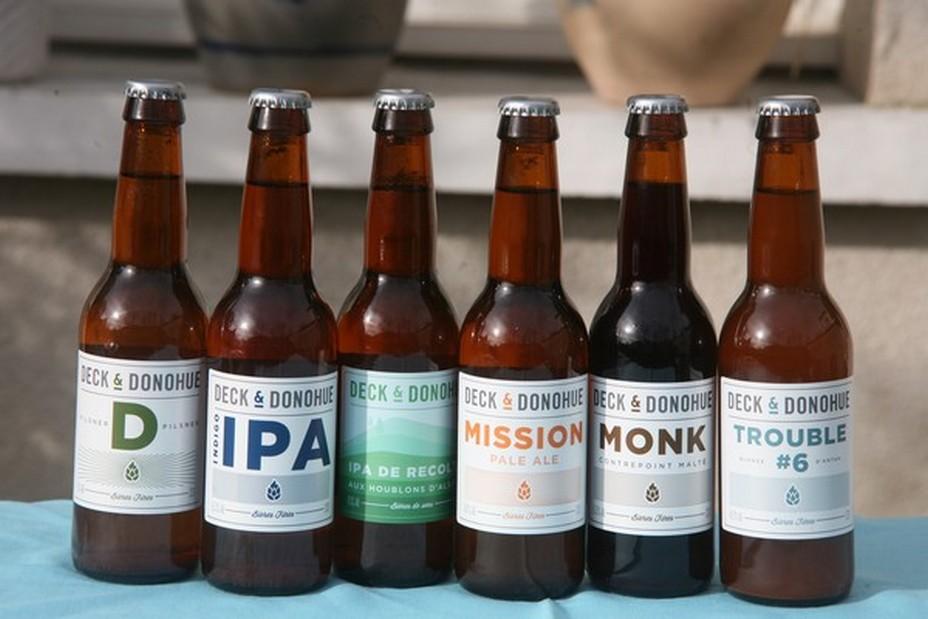 Deck & Donohue brassent et distribuent  une large gamme de bières de caractère, avec des produits sains et mûrement choisis et certifiées bio.@ R.Bayon