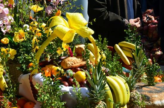 Lors des fêtes de Pâques, une table de bénédiction est installée au beau milieu du marché Stary Kleparz.@ David Raynal