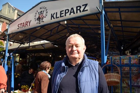 Le président  depuis 25ans du célèbre marché Stary Kleparz à Cracovie. @ David Raynal