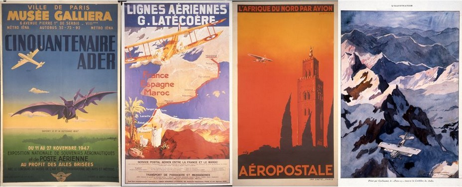Au sortir de la Première Guerre mondiale, Pierre-Georges Latécoère est persuadé que l'on peut utiliser l'avion à des fins pacifiques. En 1918, il imagine une ligne aérienne reliant la France au Sénégal en passant par l'Espagne et le Maroc. Crédit photo Musée de La Poste.