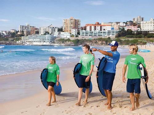 Plage de Bondi - 'endroit  idéal pour apprendre à surfer en Australie. @ Pixabay/Lindigomag