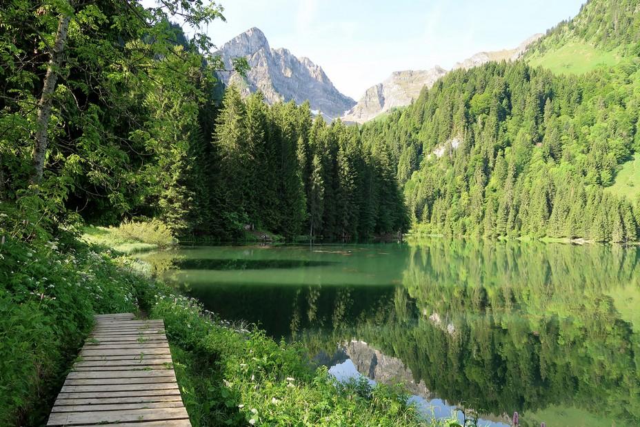 Géopark, le lac des Plagnes. Abondance_©pays d'Evian vallée d'Abondance