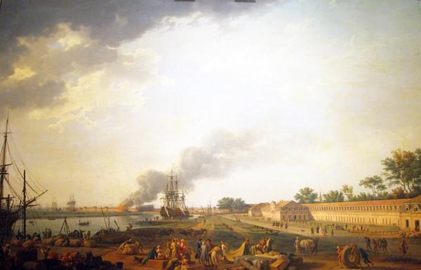 Joseph Vernet, Vue du port de Rochefort, prise du magasin des Colonies @ D.R.