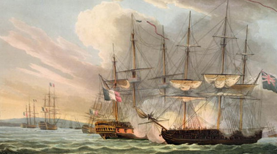Destruction de la flotte française dans la rade des Basques - Thomas Whitcombe