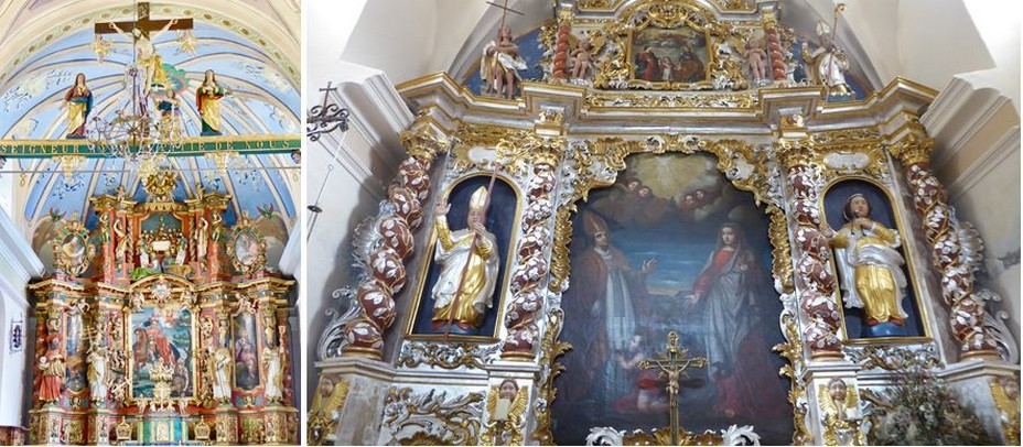 Retable principal de Saint Martin de tours. @ C.Gary  et Chapelle Saint Brigide à Sainte Foix La Masure @ C.Gary