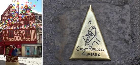 Auxerre. Centre ville  @C.Gary et En suivant la trace de cadet Roussel @C. Gary