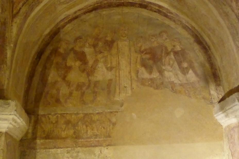 Auxerre Fresques dans la crypte de l'Abbaye  Saint Germain @ C.Gary