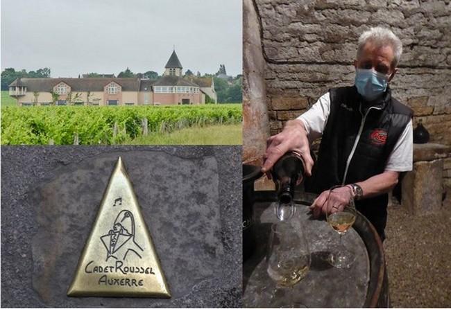 1/Chablis Domaine Brocard  @ dr; 2/Domaine PL & JF Bersan  à Escolives-Sainte-Camille @C.Gary; 3/ Sur la route de Cadet Roussel à Auxerre @ C.Gary