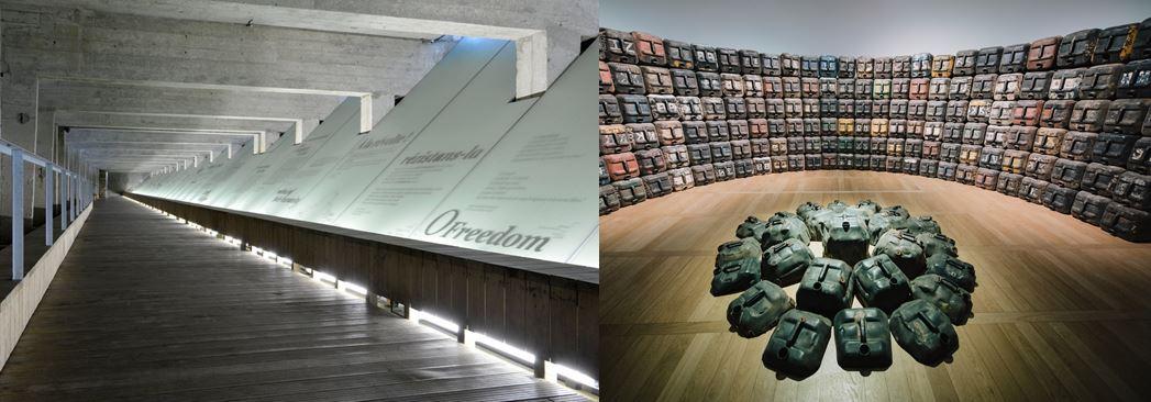 Le Mémorial de l abolition de l esclavage. Nantes © Jean-Dominique Billaud - Nautilus LVAN et Expression(s) décoloniale(s) #2 _ Romuald Hazoumè, @ Musée d histoire de Nantes © David Gallard  LVAN
