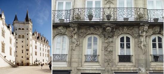 Château des ducs de Bretagne. Nantes © Philippe Piron _ LVAN  et   Anciennes maisons d'armateurs du quartier Feydeau @C.Gary