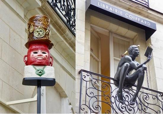 Enseigne Le Géant de Nantes   de Eric Croes @ C.Gary et Enseigne  de la librairie Coiffard.   @ C.Gary