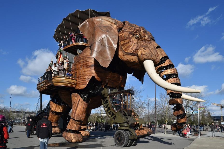 Ile de Nantes L'éléphant des machines de l'île JDB-GE-1