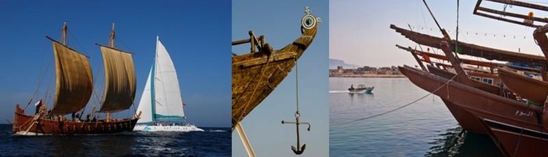 Aujourd'hui à Oman les époques se mêlent, les traditionnels boutres croisent au large les sardiniers et thoniers de dernière génération (Crédit photo Oman tourisme).