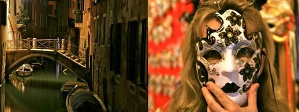 Le masque vénitien renforce le mystère au coeur de la nuit ©Patrick Cros