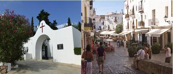 A l'intérieur, on découvre des villages tranquilles comme Puig de Misa ou Santa Eularia del Riu, et En bas vous attend le quartier des restaurants, des terrasses et du marché. (Crédit photo Catherine Gary)