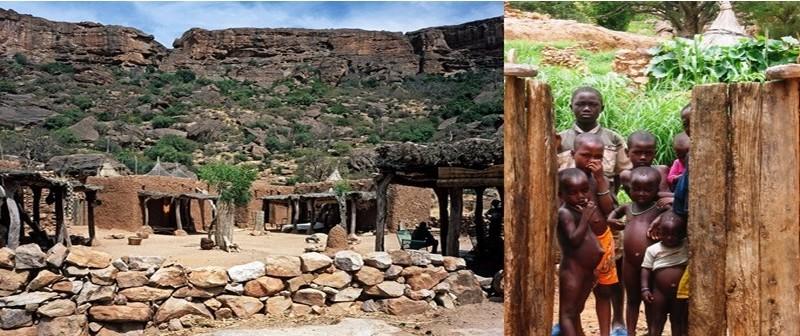 Campement dans le village de Youga Na à Bandiagara le pays Dogon au Mali (photos DR)