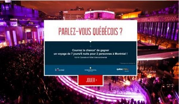 Cliquez sur le site interactif www.parlezvousquebecois et jouez !