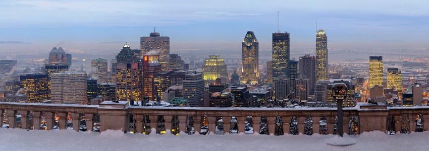 Vue en hiver du Belvédère du Mont Royal à Montréal (Québec)   (Photo DR)