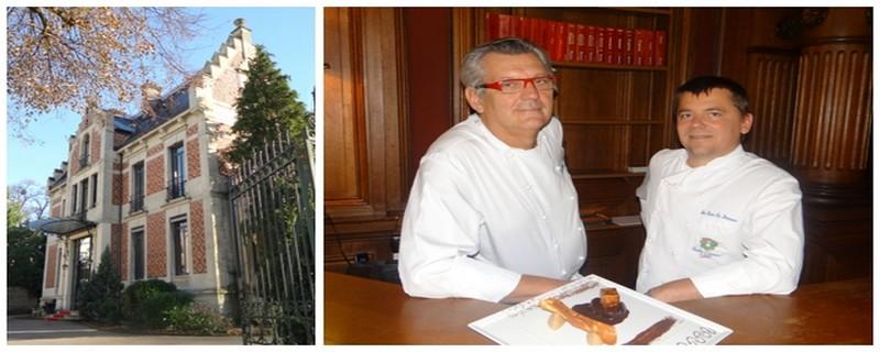 """De gauche à droite : Entrée principale du restaurant les """"Ducs de Lorraine"""" et  Claude Obriot et Stéphane Ringer les  virtuoses du piano des """"Ducs de Lorraine """" (Crédit photos Bertrand Munier)"""