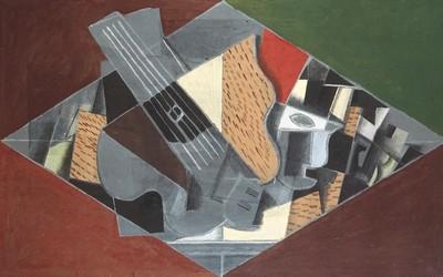 Georges Braque, Guitare et verre, 1917, huile sur toile ; 60,1 x 91,5 cm, Otterlo, Kröller-Müller Museum, © Coll.Kröller-Müller Museum, Otterlo, © Adagp, Paris 2013